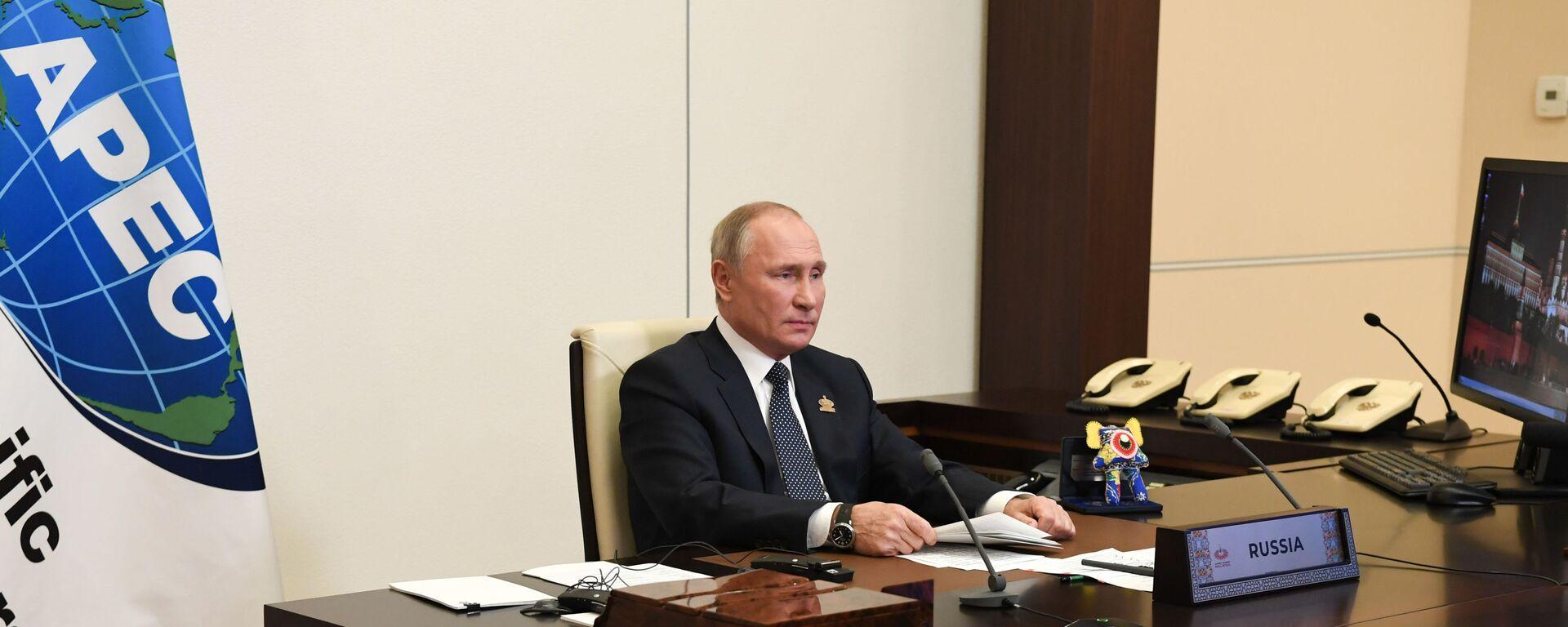 El presidente de Rusia, Vladímir Putin, y el 'monstruo' de Malasia - Sputnik Mundo, 1920, 16.07.2021
