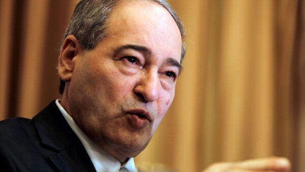 Faisal Mekdad, ministro de Exteriores sirio - Sputnik Mundo