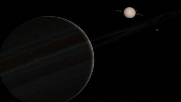 Júpiter y Saturno (ilustración artística) - Sputnik Mundo