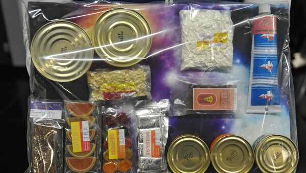 Un paquete de comida espacial, referencial - Sputnik Mundo