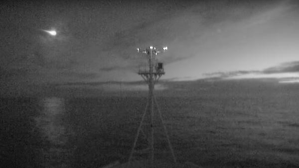 Un meteoro es registrado por las cámaras del buque oceanográfico australiano Investigator - Sputnik Mundo