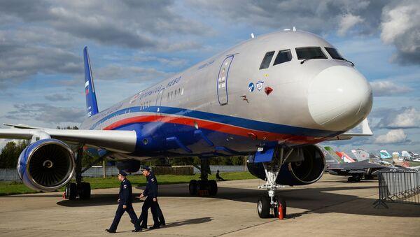El avión de observación aérea ruso Tu-214ON Cielos Abiertos - Sputnik Mundo