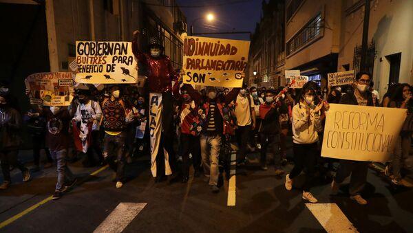 Protestas en Perú - Sputnik Mundo