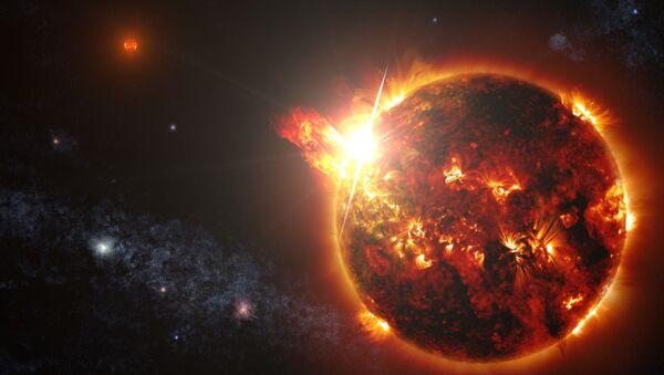 Un sistema de dos estrellas enanas produce una serie de poderosos relámpagos - Sputnik Mundo