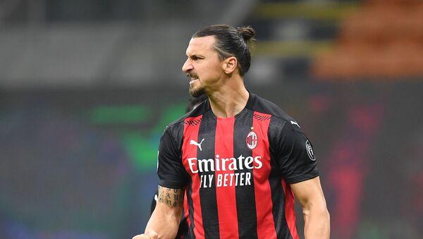 Zlatan Ibrahimovic, futbolista sueco del AC Milan  - Sputnik Mundo