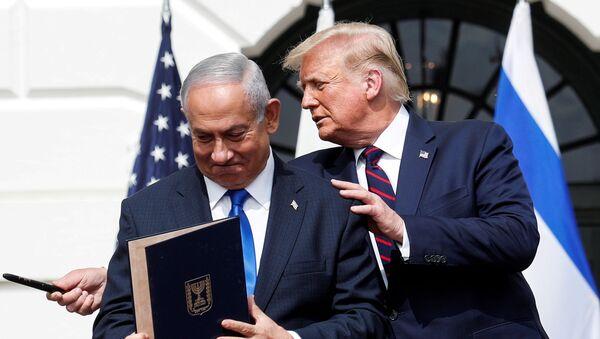 El primer ministro israelí, Benjamin Netanyahu, y el presidente de EEUU, Donald Trump (archivo) - Sputnik Mundo