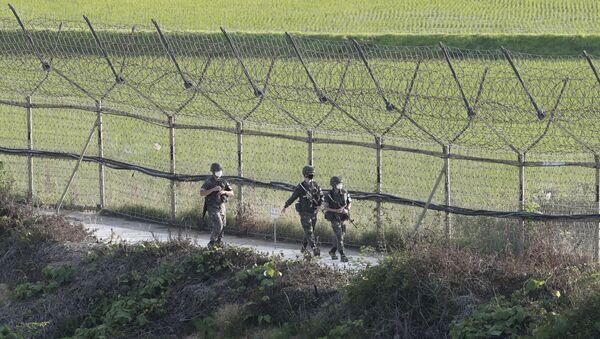 La frontera entre Corea del Norte y Corea del Sur (archivo) - Sputnik Mundo