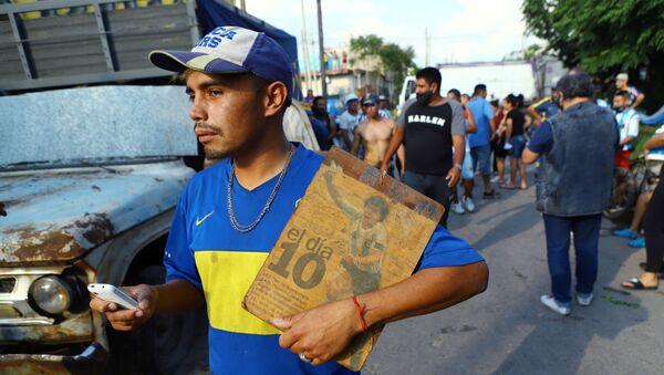 Un fan de Maradona en Buenos Aires, Argentina - Sputnik Mundo
