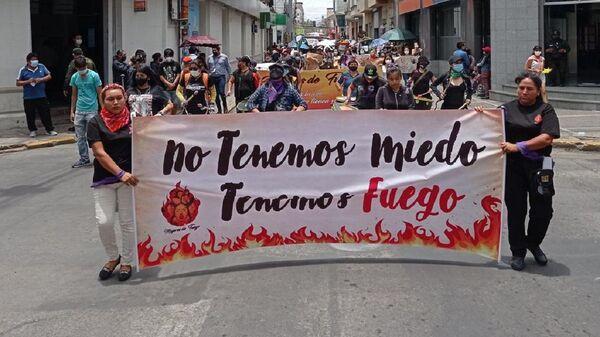 Marcha por el Día Internacional de la Eliminación de la Violencia contra la Mujer, en Cochabamba, Bolivia - Sputnik Mundo