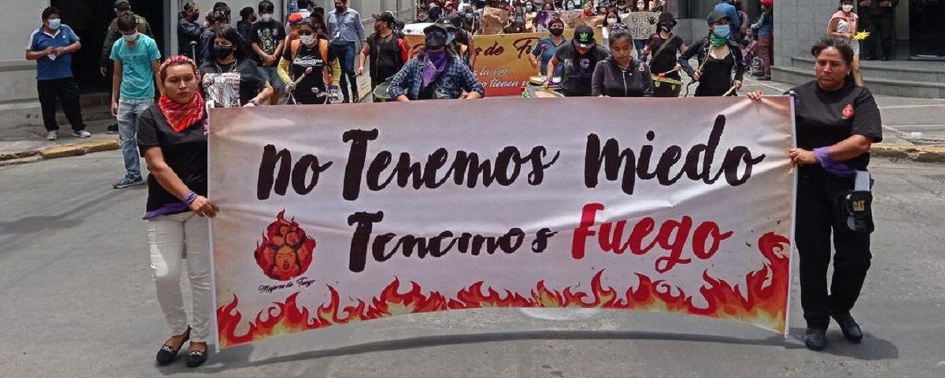 Marcha por el Día Internacional de la Eliminación de la Violencia contra la Mujer, en Cochabamba, Bolivia - Sputnik Mundo, 1920, 26.11.2020