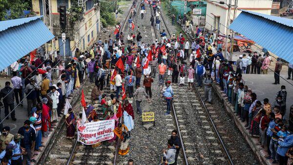 Huelga en la India - Sputnik Mundo