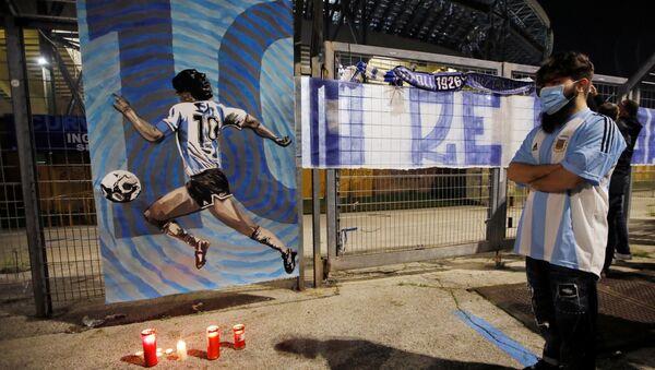 La ciudad de Nápoles, Italia, tras la muerte de Diego Maradona - Sputnik Mundo