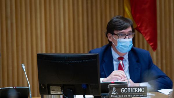 El ministro de Sanidad, Salvador Illa, en la Comisión de Sanidad y Consumo del Congreso - Sputnik Mundo