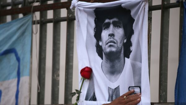 Un homenaje a Diego Maradona - Sputnik Mundo