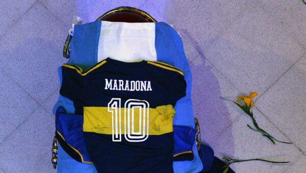El féretro de Maradona - Sputnik Mundo