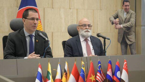 Jorge Arreaza, el canciller venezolano durante la III Jornada ASEAN en Venezuela - Sputnik Mundo
