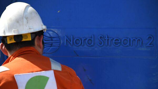 Un empleado invoclucrado en la construcción del gasoducto Nord Stream 2 - Sputnik Mundo