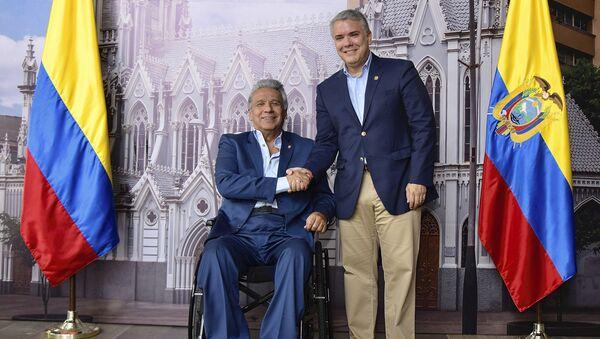 El presidente de Colombia, Iván Duque, junto al presidente de Ecuador, Lenín Moreno - Sputnik Mundo