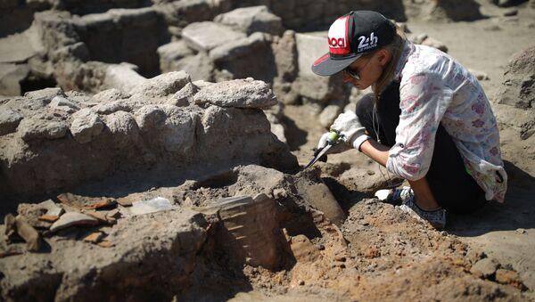 Unas excavaciones arqueológicas (archivo) - Sputnik Mundo