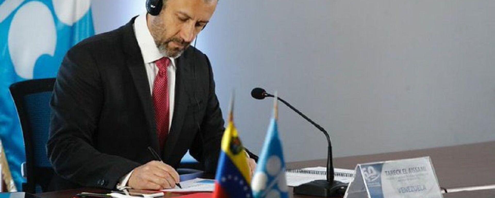 Tareck El Aissami, ministro de Petróleo de Venezuela - Sputnik Mundo, 1920, 06.09.2021