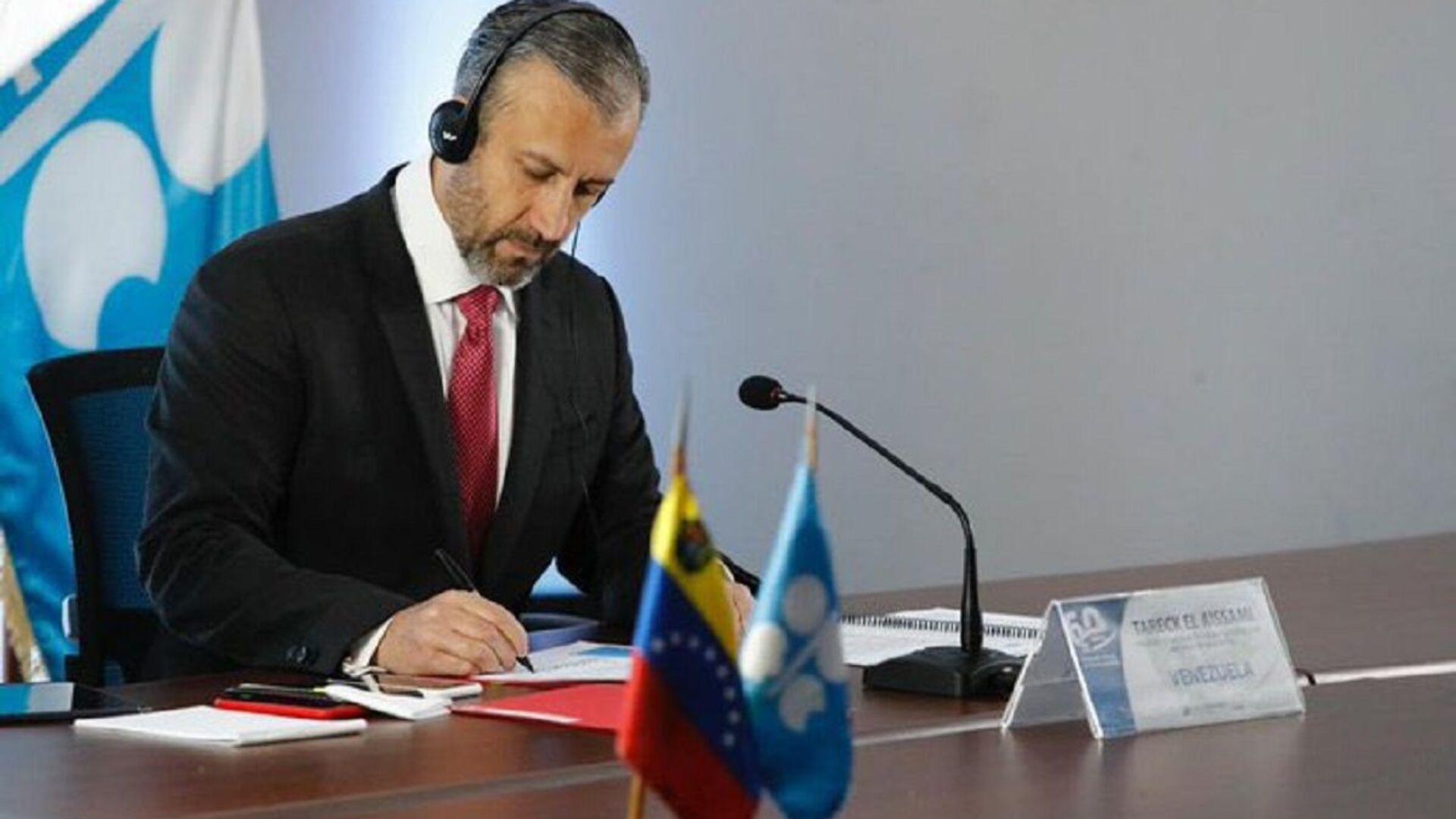 Tareck El Aissami, ministro de Petróleo de Venezuela - Sputnik Mundo, 1920, 01.07.2021