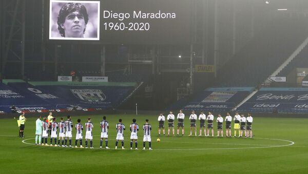El tributo a Diego Maradona (archivo) - Sputnik Mundo