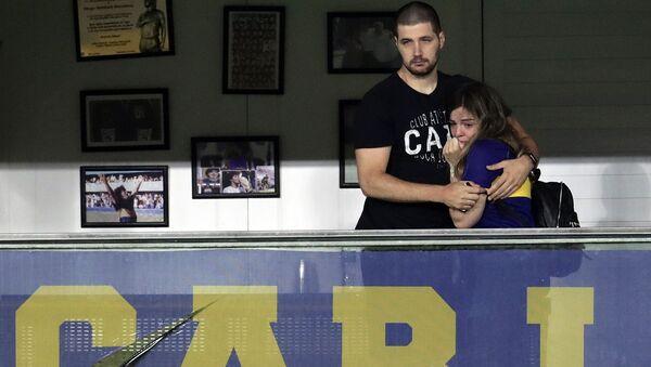 Dalma Maradona, la hija de Diego Maradona en el palco de su padre - Sputnik Mundo