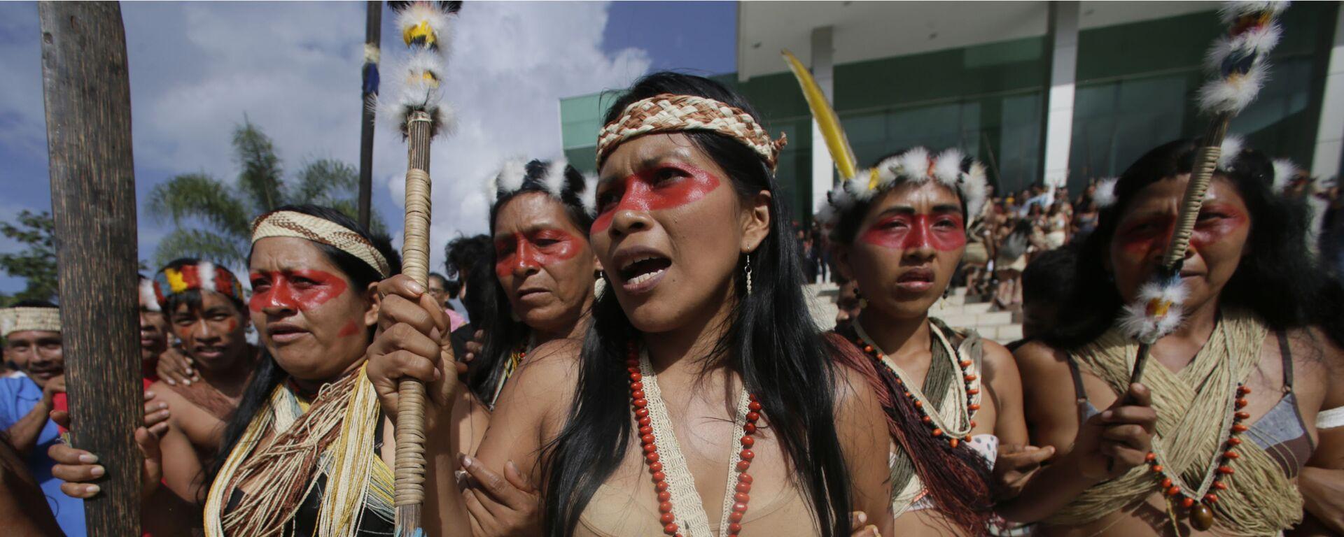 Nemonte Nenquimo, líder indígena del pueblo Waorani - Sputnik Mundo, 1920, 07.06.2021