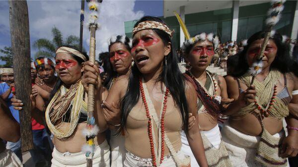 Nemonte Nenquimo, líder indígena del pueblo Waorani - Sputnik Mundo