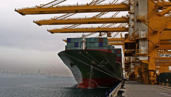 El puerto de Jebel Ali, el principal de Dubái - Sputnik Mundo