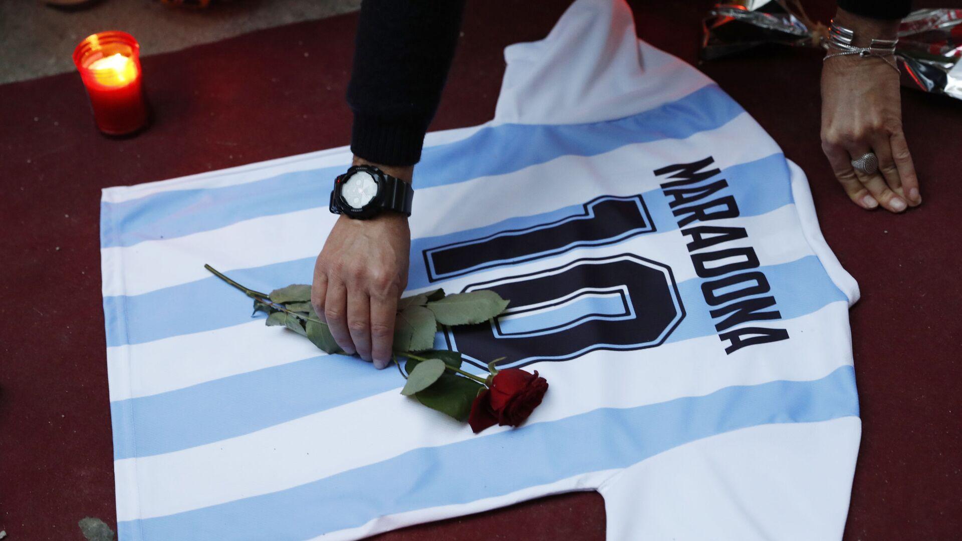 Homenaje al futbolista argentino Diego Maradona - Sputnik Mundo, 1920, 10.03.2021