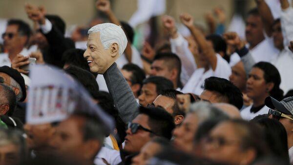 Celebración del cumpleaños del presidente de México, Andrés Manuel López Obrador, el 1 de julio de 2019 - Sputnik Mundo