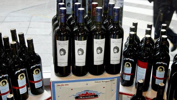 Botellas de vino 'Diego Armando Maradona' - Sputnik Mundo