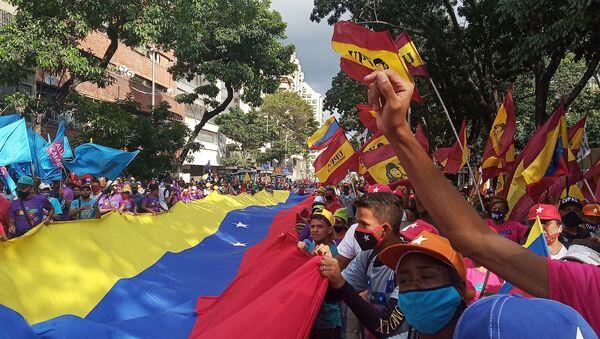 Acto de cierre de campaña de Gran Polo Patriótico en Caracas - Sputnik Mundo