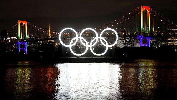 Logo de Juegos Olímpicos (JJOO) en Tokio, Japón - Sputnik Mundo