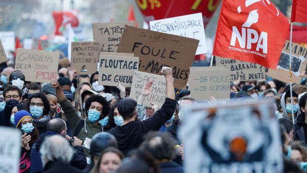 Protesta en París, foto de archivo - Sputnik Mundo