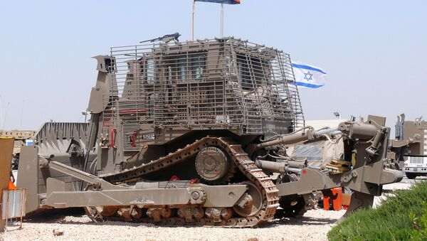 Un Caterpillar D9 blindado del Ejército israelí - Sputnik Mundo