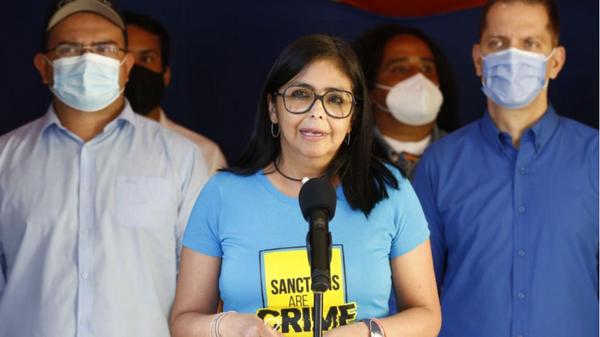 La vicepresidenta de Venezuela, Delcy Rodríguez, ejerce su voto en las parlamentarias - Sputnik Mundo