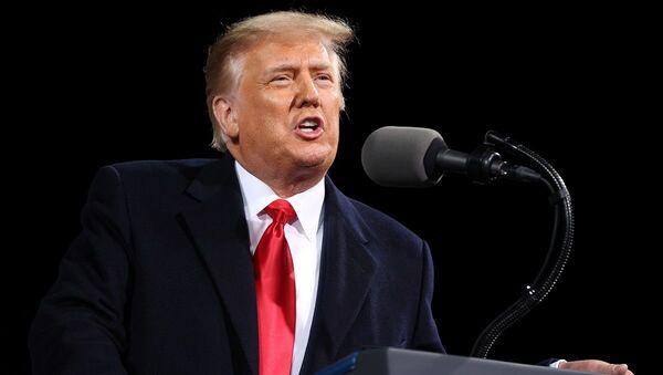 El presidente de EEUU, Donald Trump, durante su discurso ante sus simpatizantes en el estado de Georgia - Sputnik Mundo