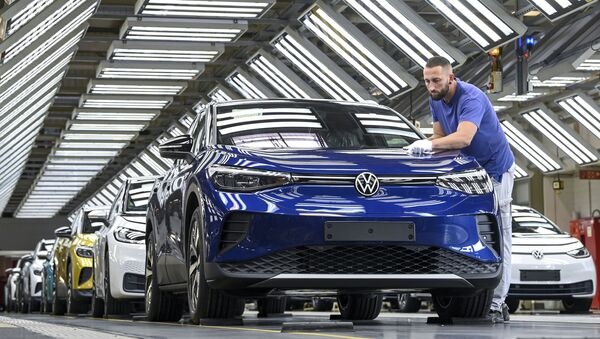 Una planta de Volkswagen  - Sputnik Mundo
