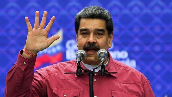 Nicolás Maduro en las elecciones parlamentarias en Venezuela - Sputnik Mundo