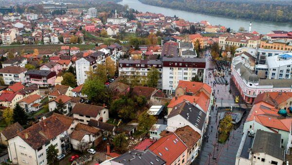 La vista aérea de Brcko, en Bosnia y Herzegovina - Sputnik Mundo