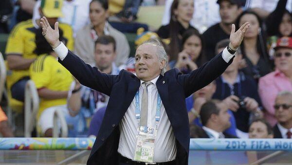 El exentrenador de la Selección Argentina, Alejandro Sabella, durante la Copa del Mundo de 2014 - Sputnik Mundo