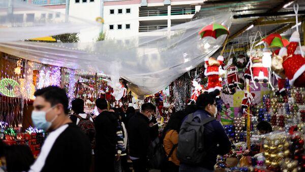 Feria navideña en La Paz - Sputnik Mundo