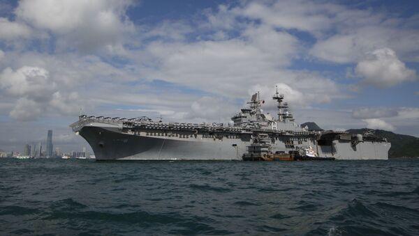 El buque estadounidense USS Makin Island - Sputnik Mundo