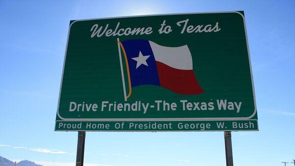 Un letrero de bienvenida en Texas, EEUU - Sputnik Mundo