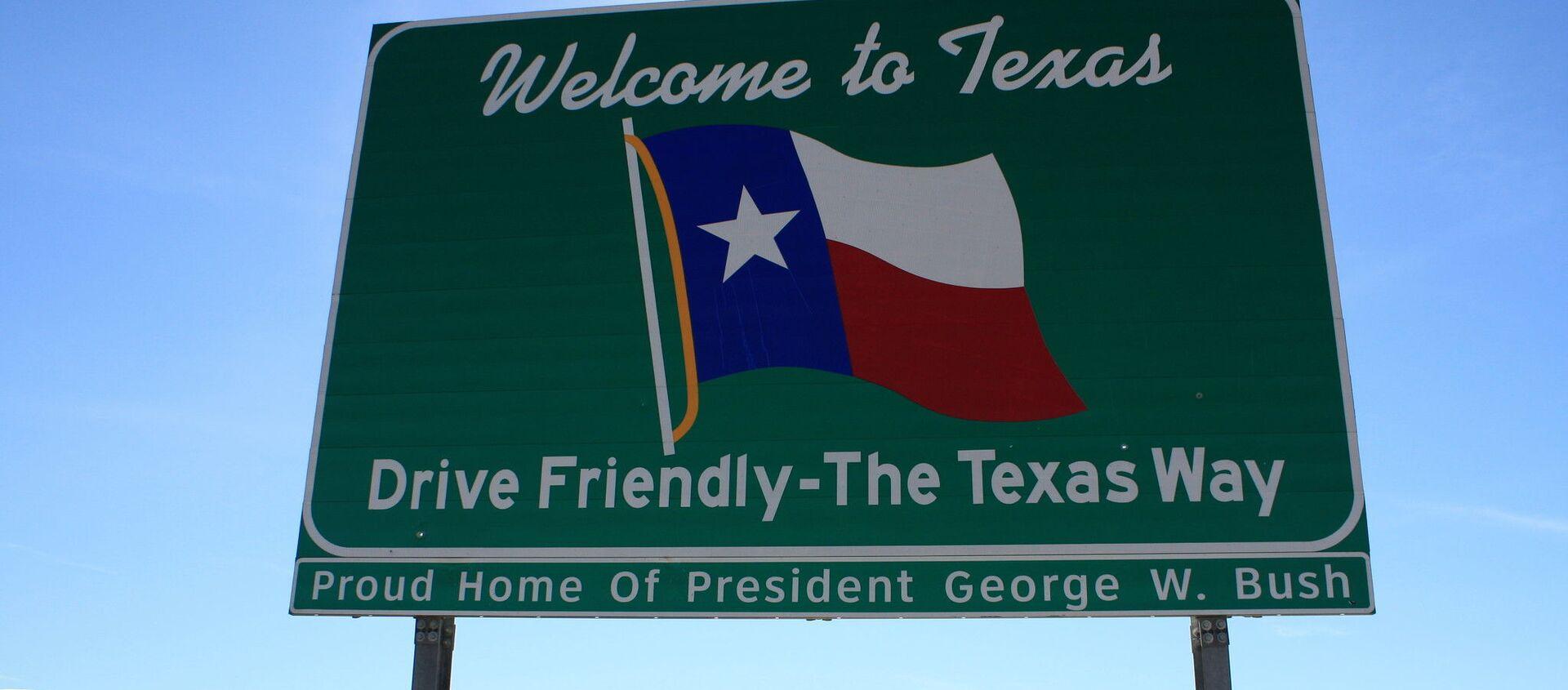 Un letrero de bienvenida en Texas, EEUU - Sputnik Mundo, 1920, 11.12.2020