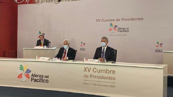 El presidente de Chile, Sebastián Piñera, y su par colombiano, Iván Duque, inauguran la virtual XV Cumbre de la Alianza del Pacífico - Sputnik Mundo