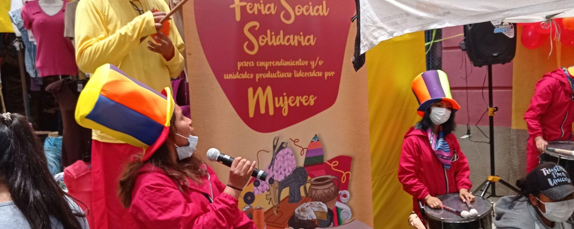 Feria Social Solidaria para emprendimientos y unidades productivas lideradas por Mujeres, en El Alto - Sputnik Mundo, 1920, 11.12.2020