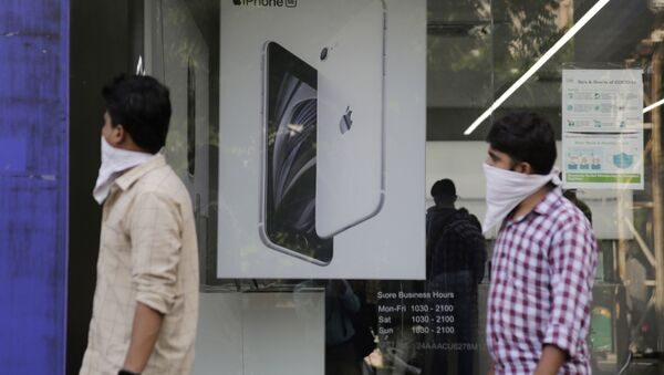 Una tienda de Apple en la India - Sputnik Mundo